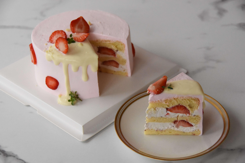 草莓白巧戚風